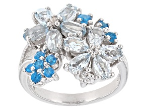 Sky Blue Topaz Sterling Silver Ring 3.20ctw