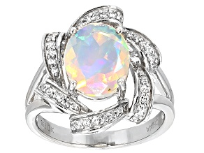 Ethiopian Opal Sterling Silver Ring 1.85ctw