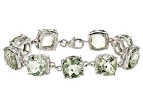 Green Brazilian Prasiolite Sterling Silver Bracelet 58.50ctw