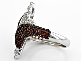 Red Garnet Sterling Silver Ring 1.87ctw