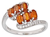 Orange Kyanite Sterling Silver Ring 1.67ctw