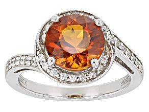 Orange Madeira Citrine Sterling Silver Ring 2.00ctw