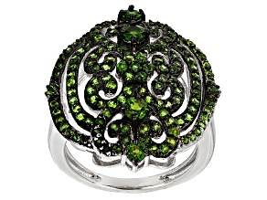Green Chrome Diopside Sterling Silver Ring 1.78ctw