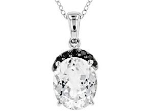 White Goshenite Sterling Silver Pendant With Chain 3.65ctw