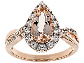 Pink morganite 18k rose gold over sterling silver ring 1.79ctw