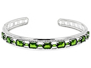 Green Chrome Diopside Silver Bracelet 8.00ctw