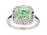 Green Tsavorite rhodium over sterling silver ring 2.34ctw