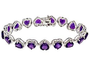 Purple Amethyst Sterling Silver Bracelet 25.09ctw