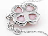 Pink Opal Silver Pendant With Chain 0.4ct
