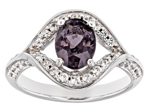 Purple Spinel Rhodium Over Sterling Silver Ring 1.69ctw