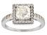 White Fabulite Strontium Titanate sterling silver ring 2.23ctw