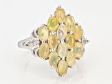 Multi Color Ethiopian Opal Sterling Silver Ring 1.71ctw