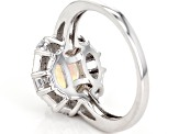 Multicolor Ethiopian Opal Sterling Silver Ring 1.73ctw