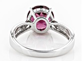 Purple Rhodolite Sterling Silver Solitaire Ring 3.00ct