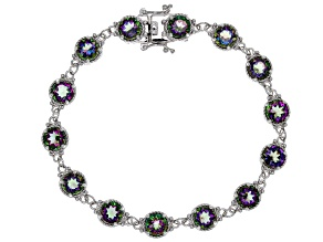 Green Mystic Topaz(R) sterling silver bracelet 12.99ctw