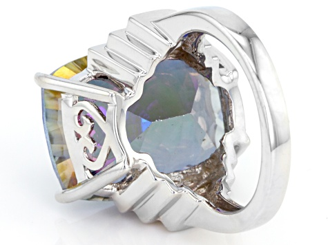 Mystic Universe™ Mystic Quartz® Sterling Silver Ring 15.00ct