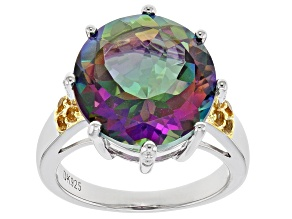 Green Mystic Topaz(R) sterling silver ring 11.25ctw