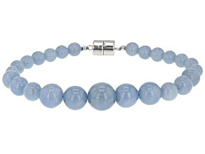 Blue Angelite Silver Bracelet