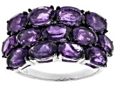 Purple Amethyst Sterling Silver Ring 5.07ctw