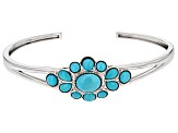 Blue Sleeping Beauty Turquoise Sterling Silver Bangle Bracelet