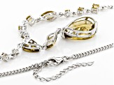 Brown Champagne Quartz Sterling Silver Necklace 12.68ctw