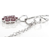 Color shift garnet, rhodium over sterling silver pendant with chain 1.19ctw