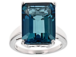 London Blue Topaz Sterling Silver Ring 12.75ct