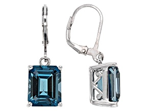 London Blue Topaz Sterling Silver Earrings 9.35ctw