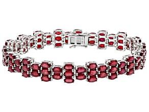 Mahaleo Ruby Sterling Silver Bracelet 27.09ctw