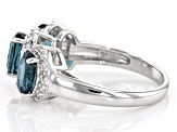 London blue topaz sterling silver ring 2.80ctw
