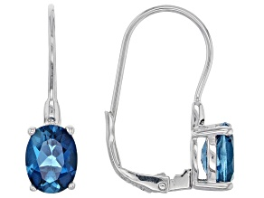 London blue topaz rhodium over sterling silver earrings 2.63ctw