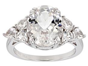 White danburite sterling silver ring 4.67ctw