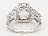 White danburite sterling silver ring 4.67ctw