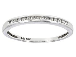 Diamond 10k White Gold Band .25ctw
