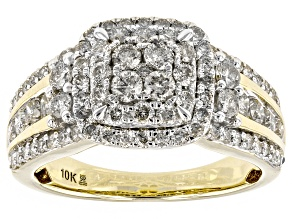 Diamond 10k Yellow Gold Ring 1.50ctw