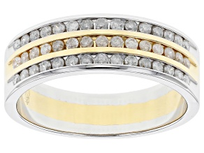 Diamond 10k Two-Tone Gents Ring .75ctw