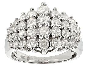 Diamond 14k White Gold Ring 1.92ctw