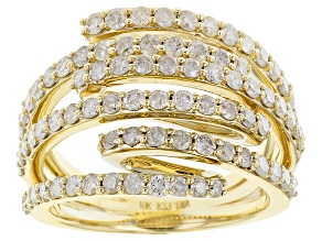 Diamond 10k Yellow Gold Ring 1.60ctw