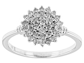Diamond 10k White Gold Ring .50ctw