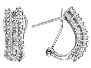 Diamond 10k White Gold Earrings .75ctw