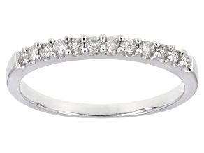 White Diamond 10K White Gold Ring 0.22ctw