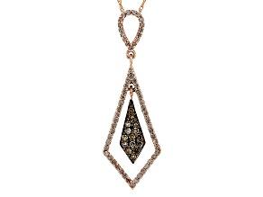 10k Rose Gold Diamond Pendant .48ctw