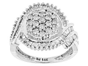 Diamond 14k White Gold Ring 1.05ctw