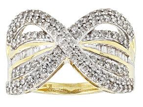 Diamond 10k Yellow Gold Ring 1.00ctw