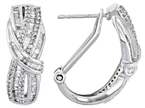 Diamond 10k White Gold Earrings 1.00ctw