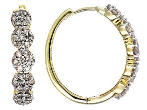 Diamond 10k Yellow Gold Earrings 1.00ctw