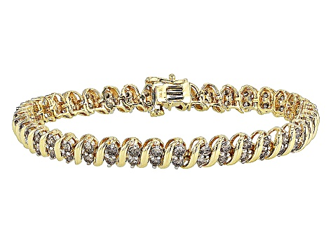 Diamond 10k Yellow Gold Bracelet 4 00ctw Zdg145 Jtv Com