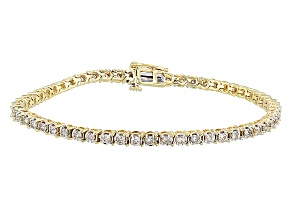 Diamond 10k Yellow Gold Bracelet 2.00ctw
