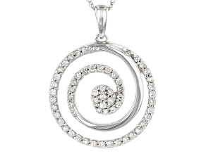 Diamond 10k White Gold Pendant .33ctw