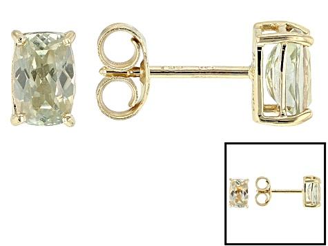 Color Change Zultanite 14k Yellow Gold Stud Earrings 99ctw
